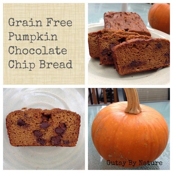 Grain Free, Dairy Free, Nut Free Pumpkin Chocolate Chip Bread recipe photo