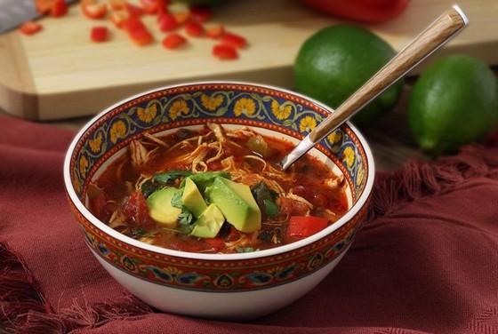 Paleo Crockpot Chicken Fajita Soup recipe photo