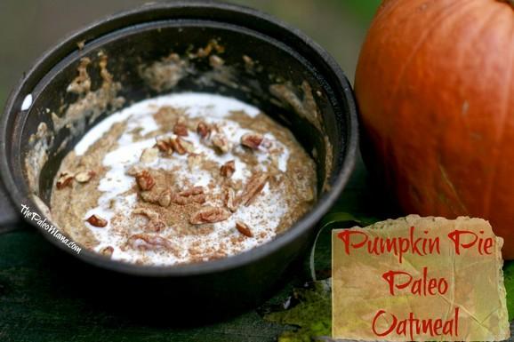 Pumpkin Pie Paleo Oatmeal recipe photo