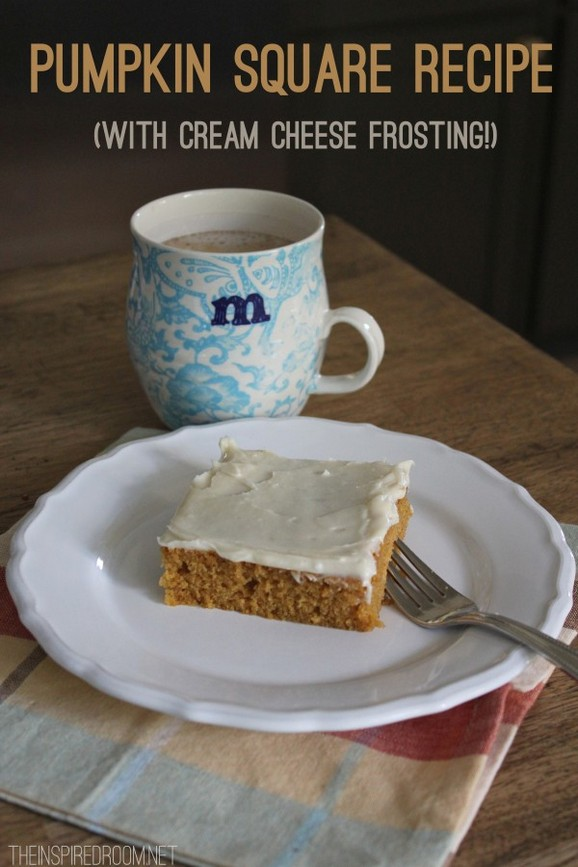 Pumpkin Squares with Cream Cheese Frosting recipe photo