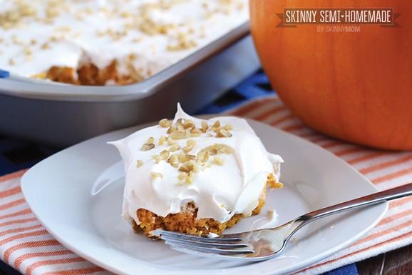 Skinny Pumpkin Cheesecake Poke Cake recipe photo