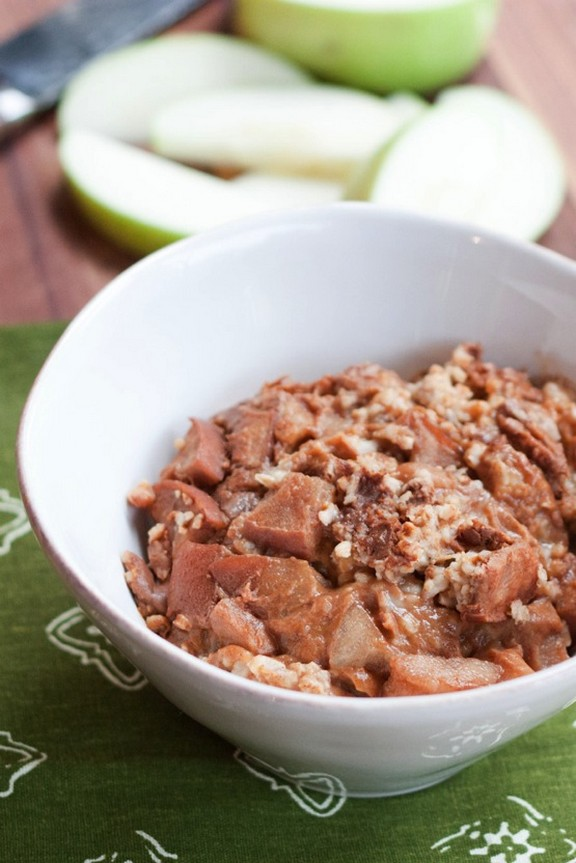 Slow Cooker Apple Cinnamon Steel-Cut Oatmeal recipe photo
