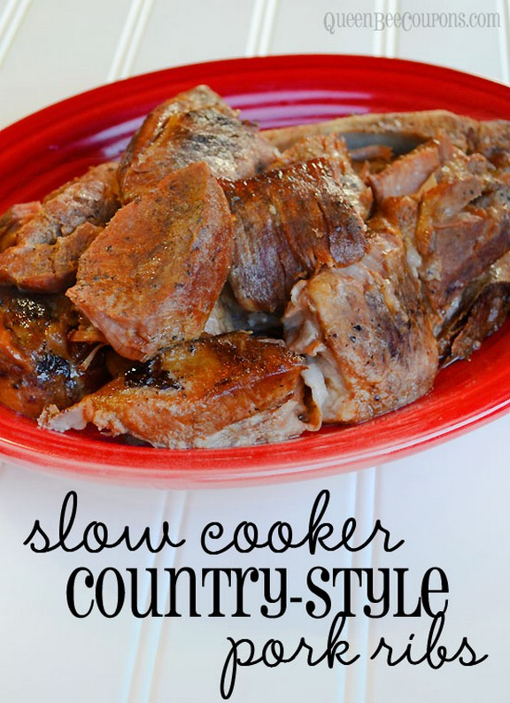 Slow Cooker Crockpot Country Style Pork Ribs recipe photo