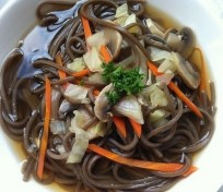 Buckwheat Noodle Soup with Vegetables recipe photo