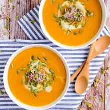Butternut Squash and Sweet Potato Soup recipe photo