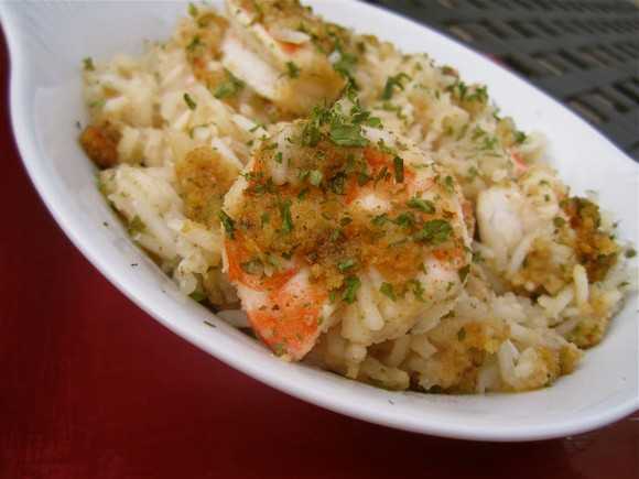 Chicken and Shrimp Scampi Bake recipe photo