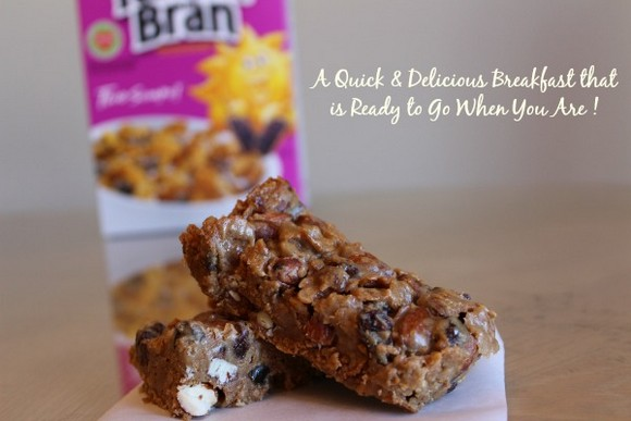 Easy Raisin Bran Breakfast Bars recipe photo