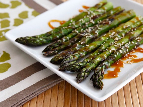 Asparagus‬ with ‪Sesame‬ Seeds recipe