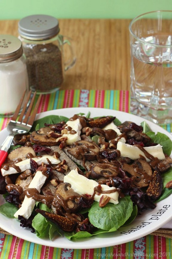 Bella & Brie Steakhouse Salad with Fig Balsamic Vinaigrette recipe