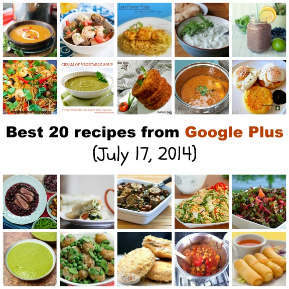 Best 20 recipes from Google Plus (July 17, 2014)