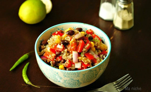 Black Bean Quinoa Salad recipe