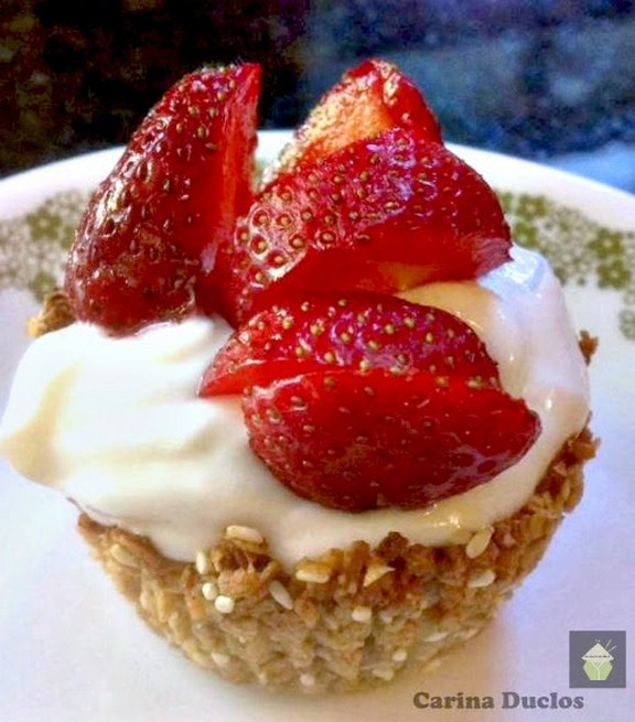Easy Healthy Granola Cups recipe