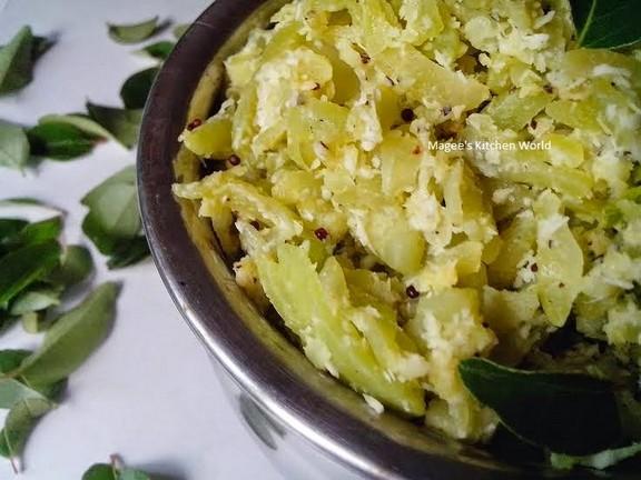 Pudalangai Podimas (Snack Gourd) recipe