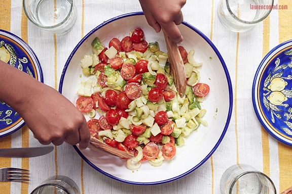 Truffled Avocado, Tomato, and Hearts of Palm Salad recipe