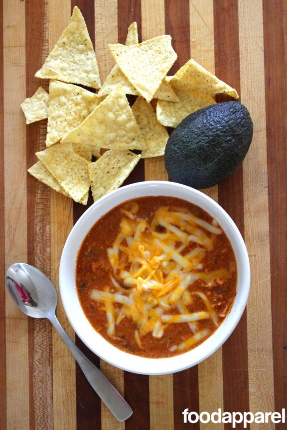 Zupa's Copycat Crockpot Chicken Enchilada Soup recipe photo