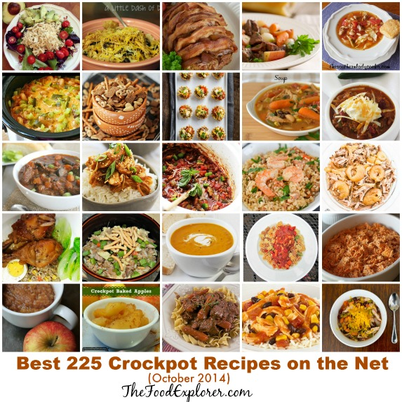 Best Crock Pot Recipes on the Net (October 2014 Edition) - 225 recipes