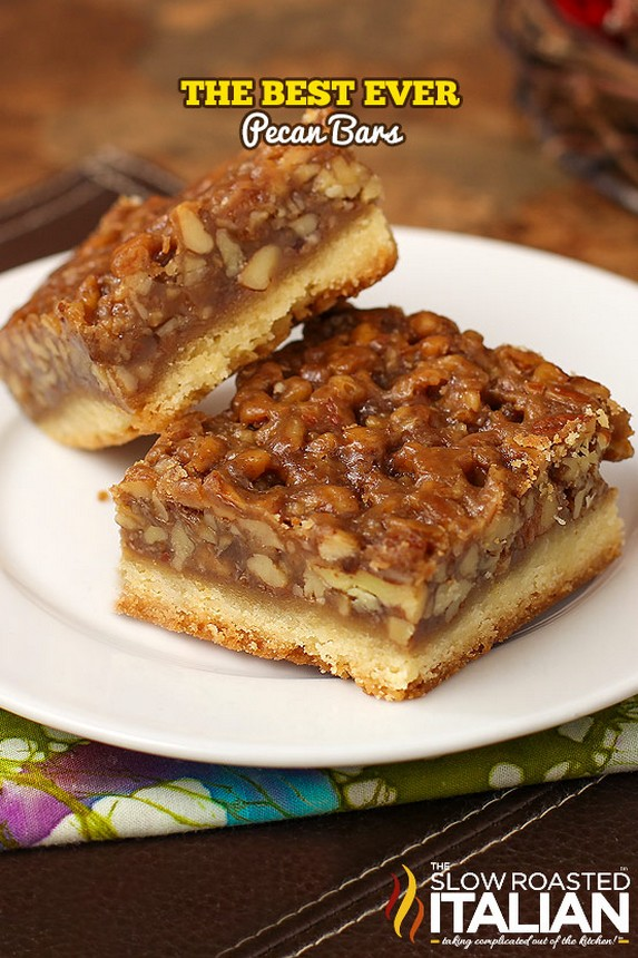 Best Ever Pecan Pie Bars by The Slow Roasted Italian