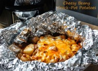 Cheesy Beany Crock-Pot Potatoes recipe