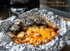 Cheesy Beany Crock-Pot Potatoes recipe