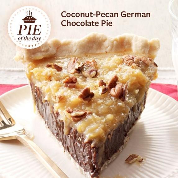 Coconut-Pecan German Chocolate Pie by Taste of Home