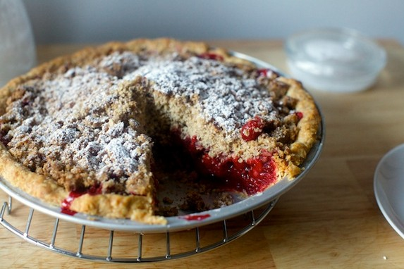 Cranberry Pie with Thick Pecan Crumble by Smitten Kitchen