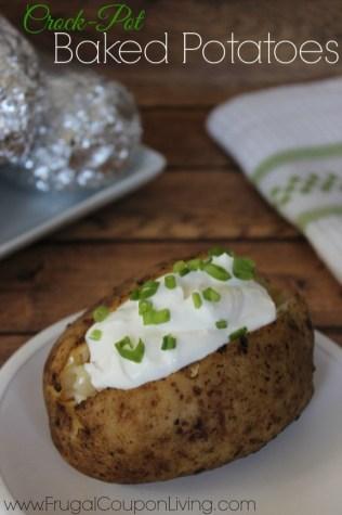 Crock-Pot Baked Potatoes recipe