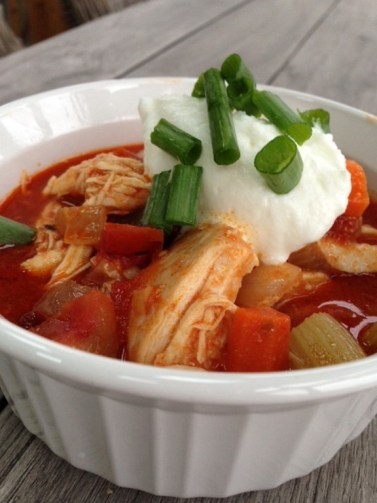 Crock-Pot Buffalo Chicken Chili recipe