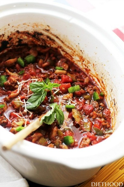 Crock Pot Italian Spaghetti Sauce recipe
