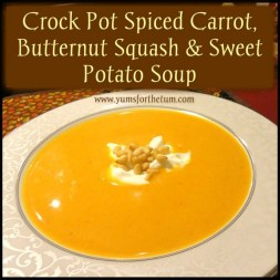 Crock Pot Spiced Carrot, Butternut Squash & Sweet Potato Soup recipe