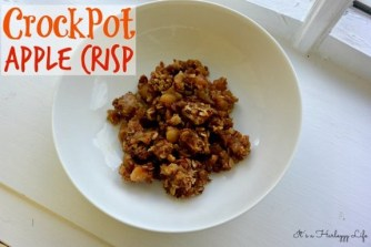 CrockPot Apple Crisp recipe