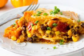 Crockpot Black Bean and Sweet Potato Enchiladas recipe