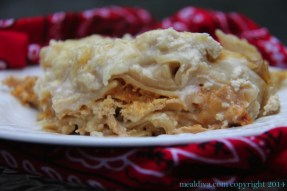 Crockpot Chicken Alfredo Lasagna recipe