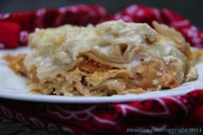 Crockpot Chicken Alfredo Lasagna recipe