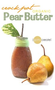 Crockpot Organic Pear Butter recipe