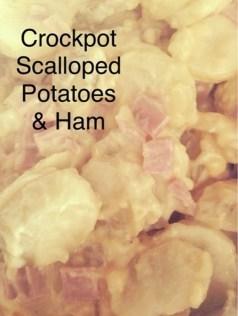Crockpot Scalloped Potatoes & Ham recipe