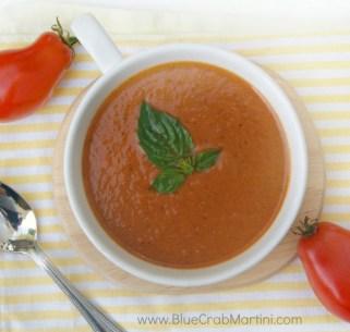 Fresh Tomato Soup in the Crock Pot recipe