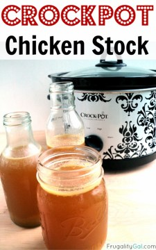 Homemade Crockpot Chicken Stock recipe