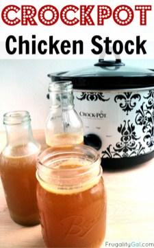Homemade Crockpot Chicken Stock recipe