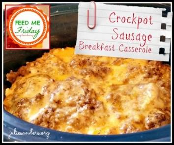 Overnight Crockpot Sausage Breakfast Casserole recipe