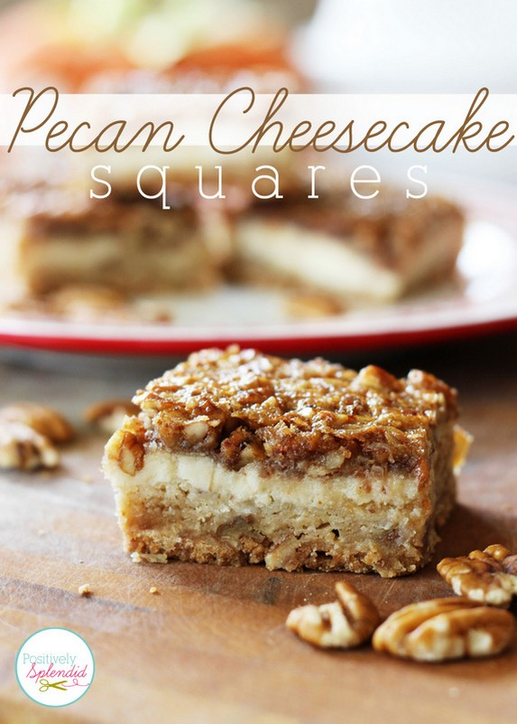 Pecan Cheesecake Squares by Positively Splendid