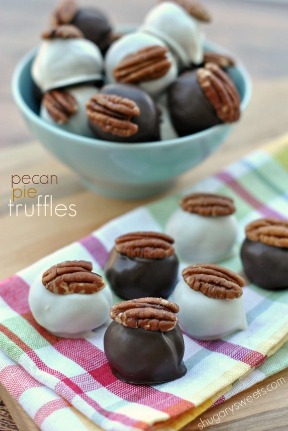 Pecan Pie Truffles by Shugary Sweets