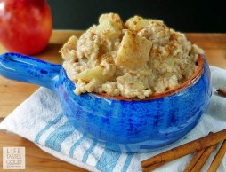 Slow Cooked Apple Pie Oatmeal recipe