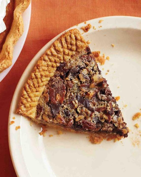 Sorghum-Sweetened Chocolate Pecan Pie by Martha Stewart