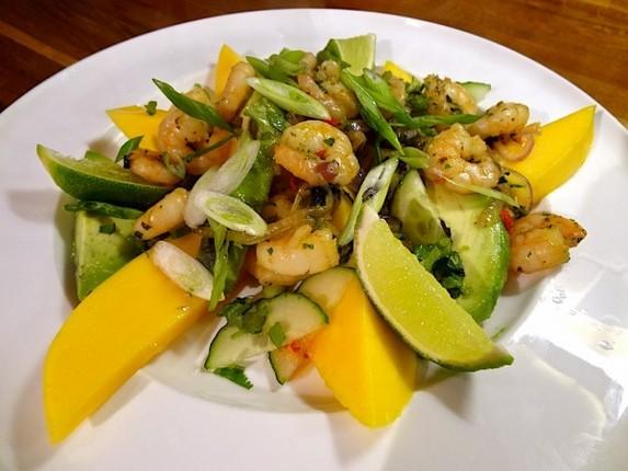 Spicy Prawns with Mango & Avocado Salad