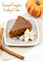 Steamed Pumpkin Crockpot Cake recipe