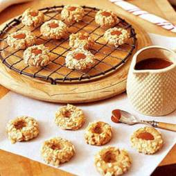 Caramel Thumbprint Cookies by Delish