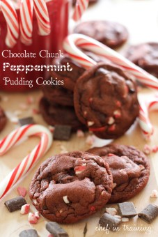 Chocolate Peppermint Pudding Cookies by I Heart Naptime