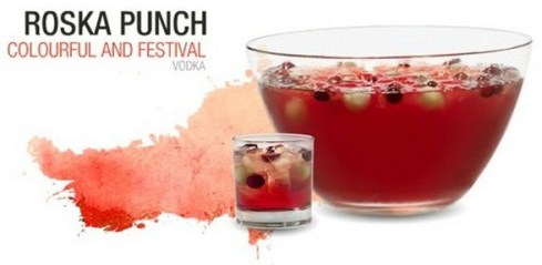 Festive Roska Punch with Vodka and Rose Wine from Espace Cocktail