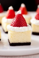 Santa Hat Cheesecake Bites by Cooking Classy