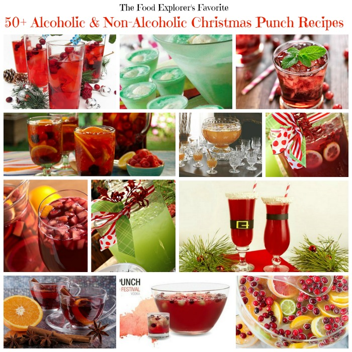 The Food Explorer's Favorite 50+ Alcoholic & Non-Alcoholic Christmas Punch Recipes